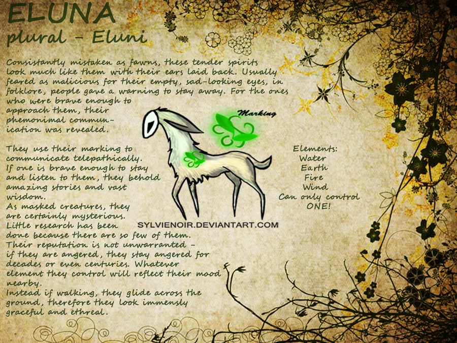 Eluna Species Reference - Now Doing Customs by sylvienoir