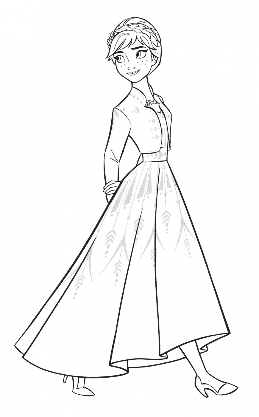 Frozen 2 Anna coloring page by variandeservesbetter on ...