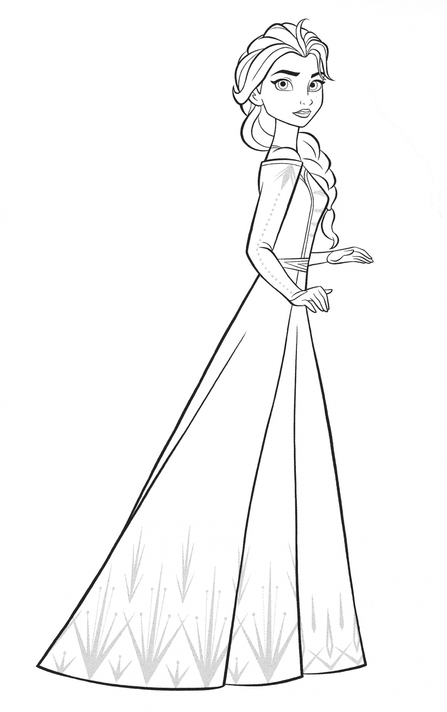 Frozen 2 Elsa coloring page by variandeservesbetter on