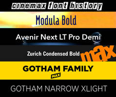 Cinemax Font History by JPReckless2444
