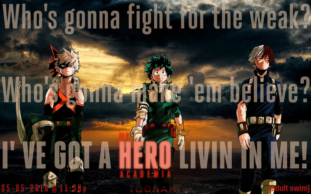 Toonami - My Hero Academia Wallpaper by JPReckless2444