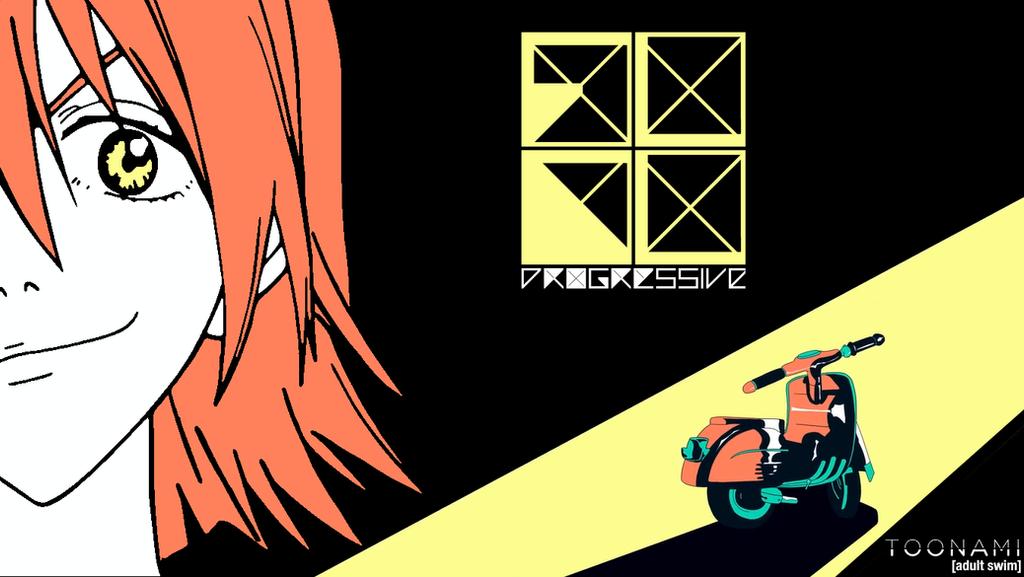 Toonami - FLCL Progressive Wallpaper #3 by JPReckless2444