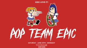 Toonami - Pop Team Epic Wallpaper by JPReckless2444