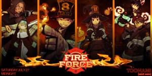 Toonami - Fire Force Wallpaper