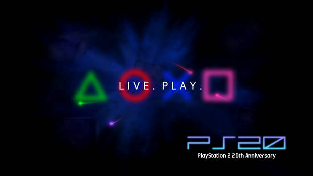 PlayStation 2 - 20th Anniversary Wallpaper