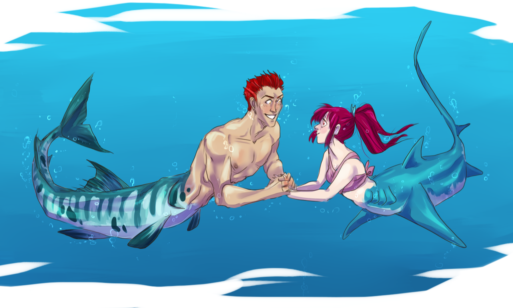 Barracuda and Thresher by SplitSoulSister