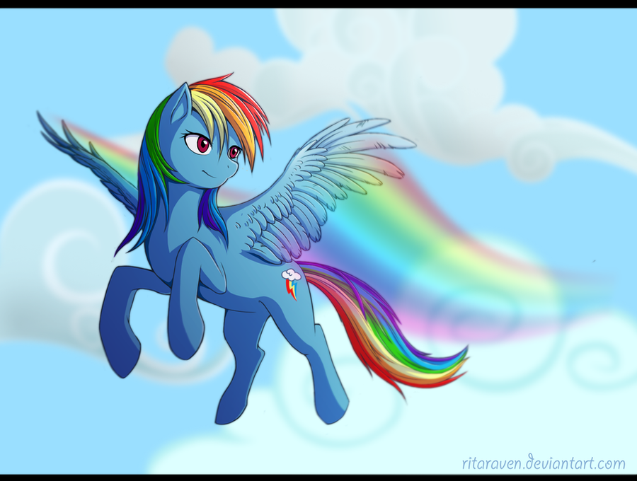 :RainbowDash: by Jay-Kuro