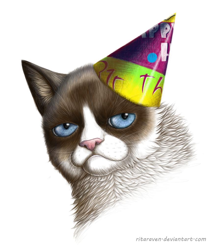 Grumpy Cat by RitaRaven