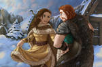 duo - young Valka and Stoick