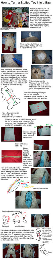 How To Turn a Stuffed Toy into a Bag