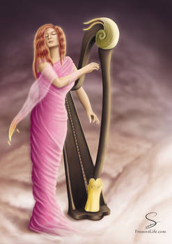 The girl who plays Harp