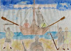 The Vikings Landing by GrafvonEichenlaub1