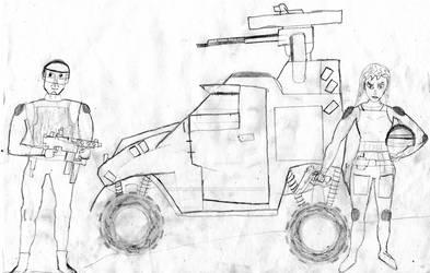 Light Recon Buggy  and Crew by GrafvonEichenlaub1