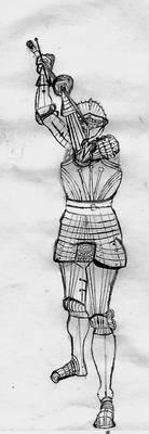 Ritter in Maximilian style Armor