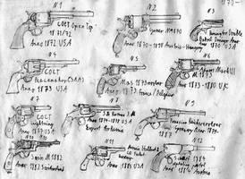 Revolvers and Pistols Anno 1870-1885