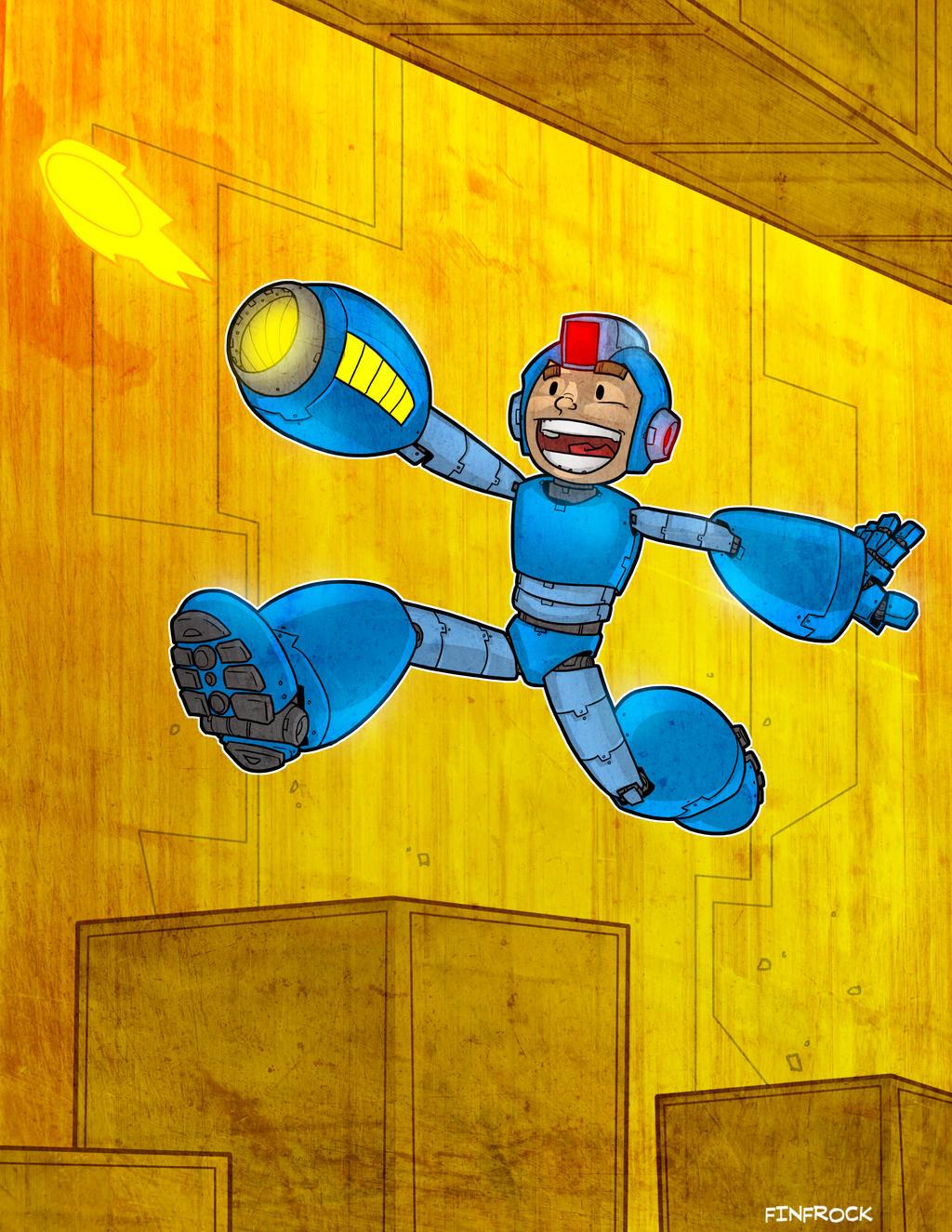 Draw-A-Thon 4 Japan: Megaman by Finfrock