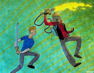 Giles vs Ben by Finfrock