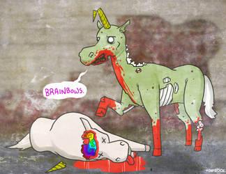 Zombie Unicorn by Finfrock
