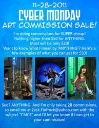 Cyber Monday Commission Sale
