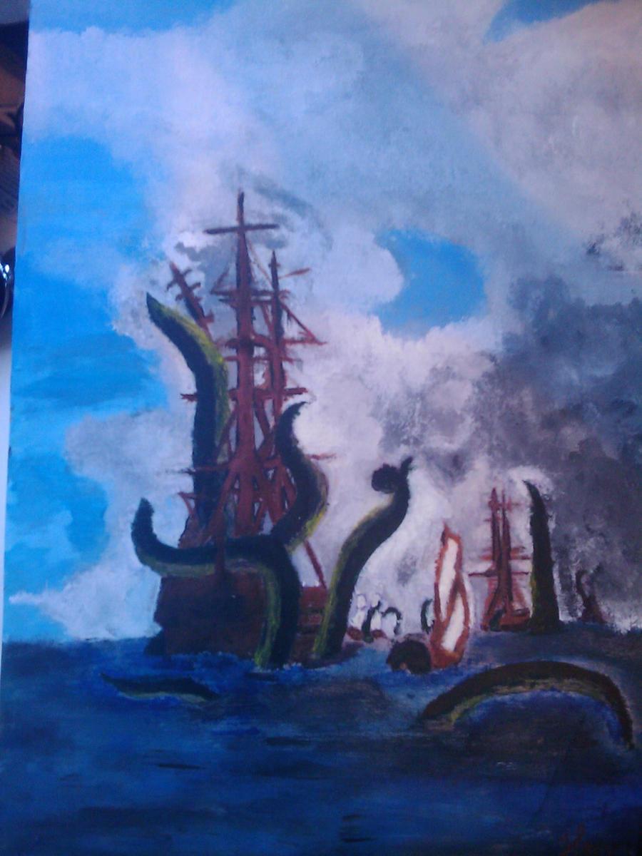 Kraken Attack by Sasuke1x on DeviantArt