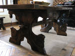 viking medieval oak table