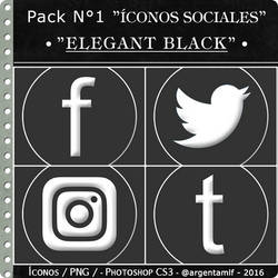Iconos - Elegant Black - PNG - By argentamlf by argentamlf