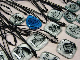 Animal pendants by monnifisu
