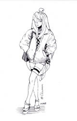 Sketch 09 Mizukage by Olevelaya