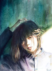 study portrait by Olevelaya