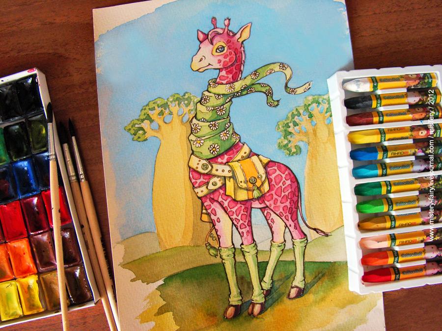 Pink giraffe by Brightway