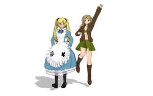 MMD- Ameriko and Igiko by UtaCasabee