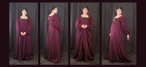 Burgundy Dress by aelthwyn