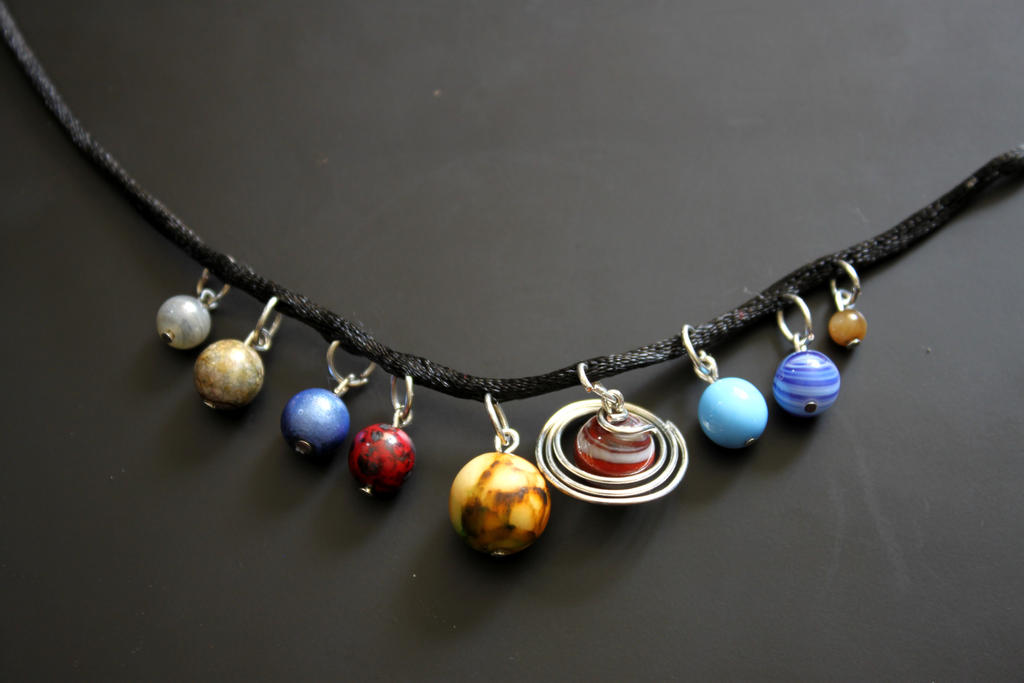 Solar System Necklace by aelthwyn