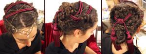 Tassles and Beads Hair Design by aelthwyn