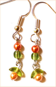 Peachy Earrings for Mom