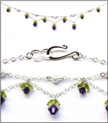 Flower Princess Necklace - Purple