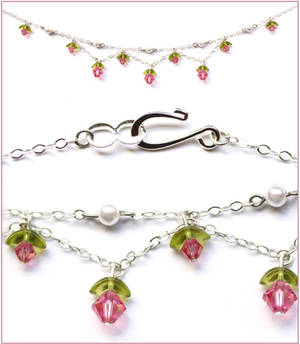 Flower Princess Necklace - Pink