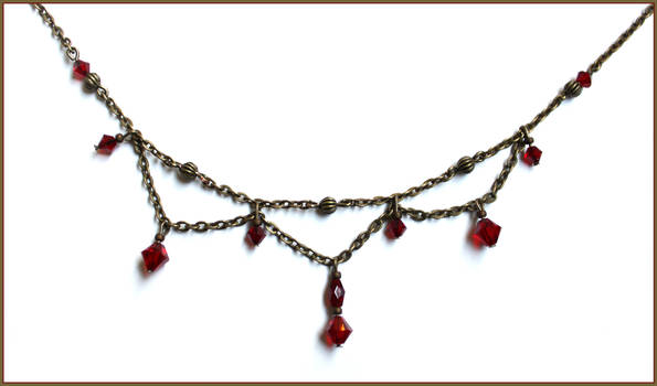 Dark Red Head Necklace