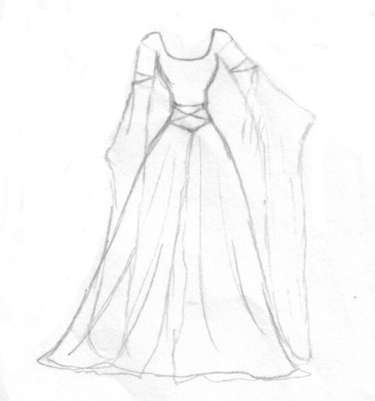 Simple renaissance wedding dress