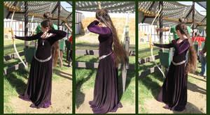 purple dress - archery
