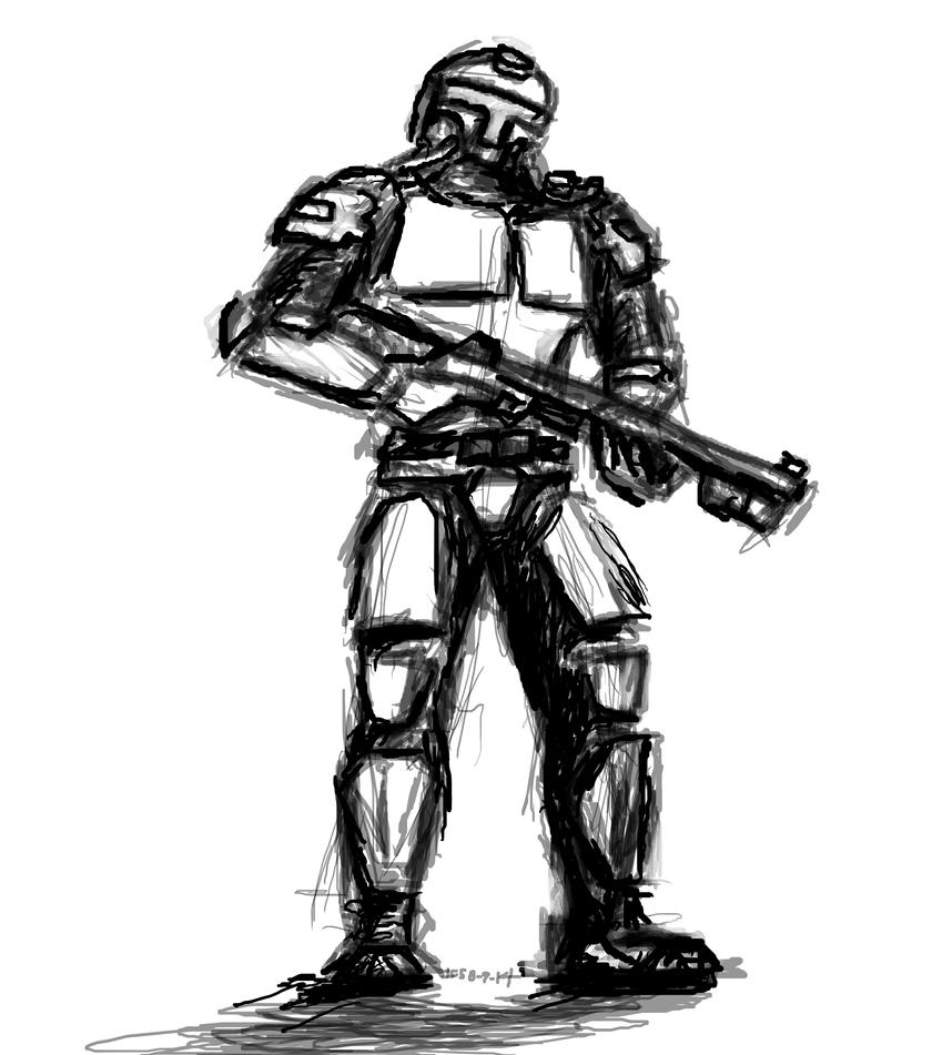 Mandalorian Neo Crusader (Shock type) by daStig177