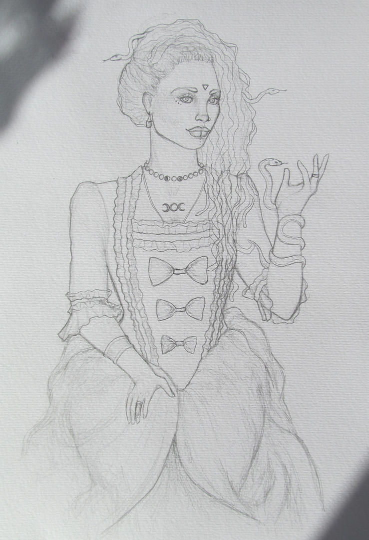 Medusa Sketch by Lady-Katsa