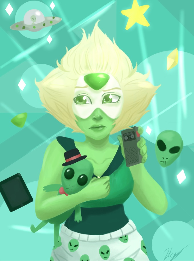 Peridot from steven universe. I drew this a few months ago