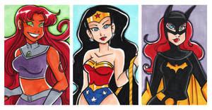 Starfire Wonder Batgirl 2x3 Set