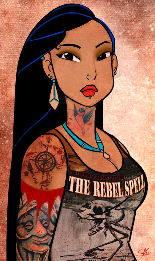 Punk Metal Pocahontas by starlinehodge