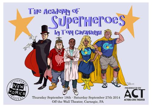Tom Cavanaugh's The Academy of Superheroes Poster