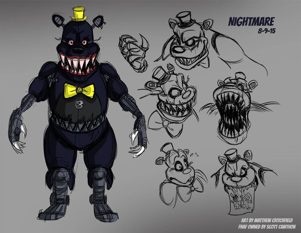 Рисовать кошмар фнаф