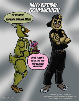FNAF - Chica Meets Gold94Chica! - 8-27-15