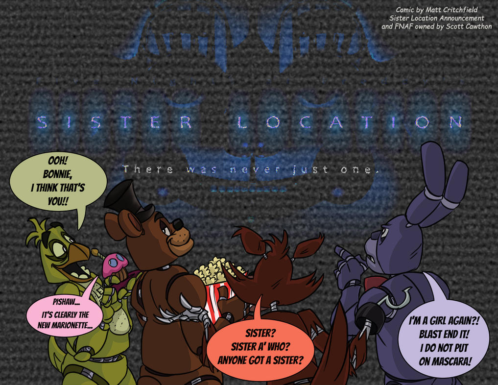 FNAF - Sister Location Announcement - 4-23-16 by Mattartist25