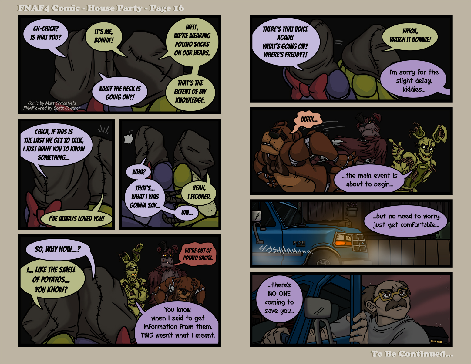 FNAF4 Comic - House Party - Page 16 - 7-8-16 by ...